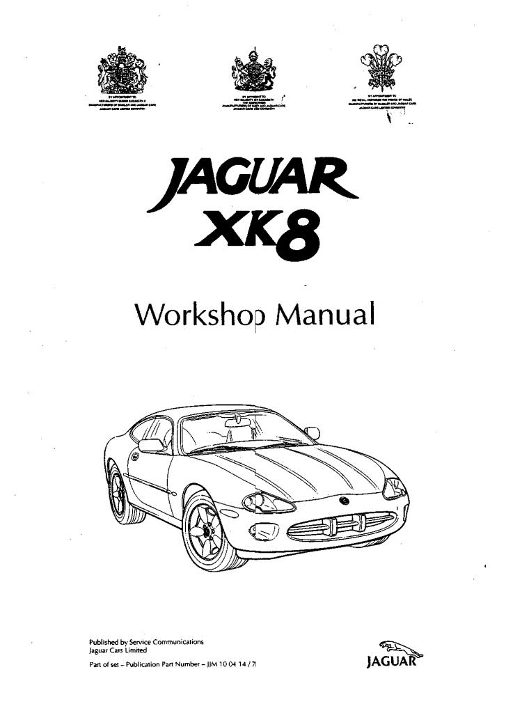 Xk8 Workshop Manual 1st Edition 1997 Pdf  13 2 Mb