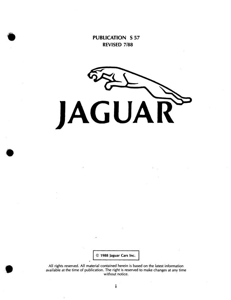 1988 Xjs Xjr Electrics Repair Manual Pdf  11 3 Mb